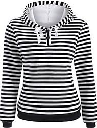 Sweatshirt Femme Sortie Lettre Col Arrondi Micro-élastique Autres Manches longues Printemps Automne