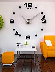 Moderno/Contemporáneo Campestre Casual Oficina/ Negocios De moda Reloj de pared,Pájaro Acero Inoxidable EVA Interior /Exterior Interior