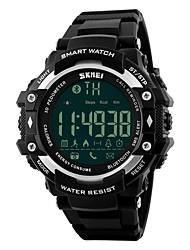SKMEI Муж. Спортивные часы Смарт-часы электронные часы Цифровой PU Группа Черный