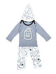 bebê Para Meninos Interior Ao ar Livre Casual Desenhos Animados Estampado Conjunto,Desenhos Animados Primavera/Outono Inverno