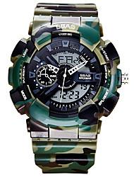 Муж. Детские Спортивные часы Модные часы Наручные часы Кварцевый LCD Календарь Защита от влаги С двумя часовыми поясами Хронометр PU