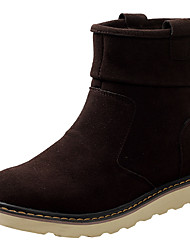Men's Shoes Suede Fall Winter Snow Boots Boots Booties/Ankle Boots For Casual Outdoor Coffee Yellow Black