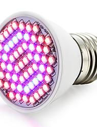 4W E27 Luci LED per la coltivazione 60 SMD 3528 1500-1800 lm Rosso Blu V 1 pezzo