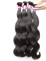 натуральный цвет волос сплетен перуанской текстурой тела волна 18 месяцев 4 части волос переплетаются