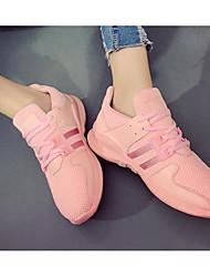 Damen Schuhe Leinwand Frühling Sommer Komfort Sneakers Für Normal Weiß Schwarz Rosa