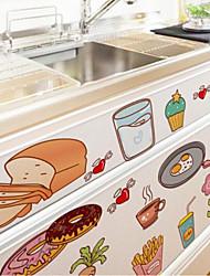 Еда и напитки Наклейки Простые наклейки Декоративные наклейки на стены материал Украшение дома Наклейка на стену