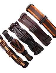 Муж. Wrap Браслеты Кожаные браслеты Мода Multi-Wear способы Кожа В форме линии Бижутерия Назначение Для улицы На выход