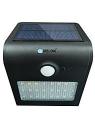 Brelong luz solar pir 24 x smd 2835 6w 500lm indução sem fio à prova de água do corpo humano