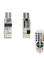 1set 1.5w t10 6smd5050 rgb светодиодный фонарик для дистанционного управления dc12v
