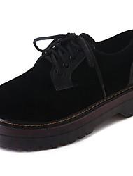 Feminino Sapatos Couro Outono Conforto Tênis Rasteiro Ponta Redonda Cadarço Para Social Preto Verde Escuro
