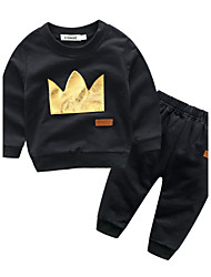 Baby Boys' Cotton Casual/Daily Patchwork Clothing Set Autumn/Fall
