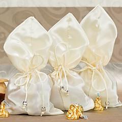 elfenbeinfarbener Seide Hochzeit Gunsten Beutel (Satz 6)