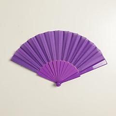Purple Silk Hand Fans (set of 6)