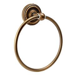 antik vægmonteret håndklæde ring (finish, antik messing)