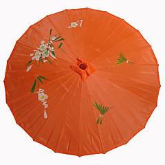 オレンジ絹日傘
