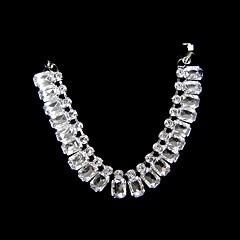 kristall med band slips halsband halsband