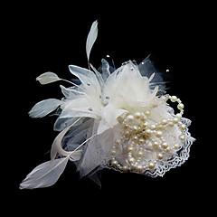 Vrouwen satijn Veren Helm-Bruiloft Speciale gelegenheden Fascinators Bloemen