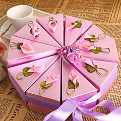 Purple Lily Cake Favor Box (Set of 10)
