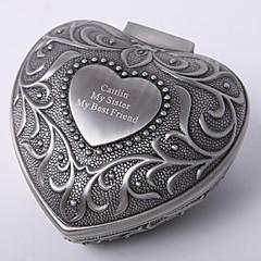 personalizado vindima coração tutania caixa de jóias de design