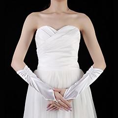Elbow Length Fingerless Glove Satin Bridal Gloves Spring / Summer / Fall Beading