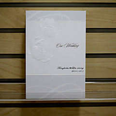 "Z-Fold Wedding Invitations Invitation Cards Formal Style Pearl Paper 8 ½""×4"" (20.8*10.3cm)"
