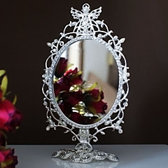 Silver Plated Alloy Angel Makeup Mirror