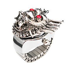 Charming Alloy Dragon Design Adjustable Ring Watch
