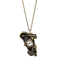 Fashion Alloy Motorcycle Design Necklace Watch