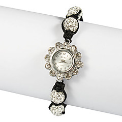 Charmant Stof met Crystal Quartz Dress horloge