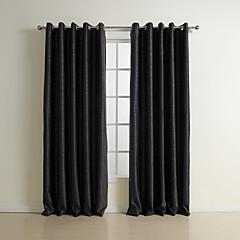 To paneler Vindue Behandling Neoklassisk , Solid Soveværelse Polyester Materiale Mørklægningsgardin forhæng Hjem Dekoration For Vindue