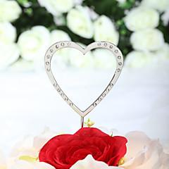 Tortenfiguren & Dekoration Nicht-personalisierte Herzen Chrom Hochzeit / Jubliläum Strass SilberStrand Thema / Klassisches Thema /