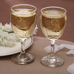 Personalizowany klasyczny kieliszek do wina (2 szt.)