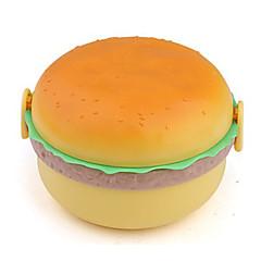 hamburger formet madpakke med gaffel og ske