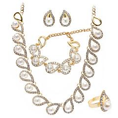 Jewelry Set Women's Anniversary / Wedding / Engagement / Birthday / Gift / Party Jewelry Sets Gold Imitation Pearl / Rhinestone Gold