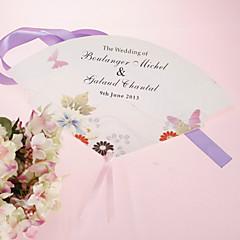 fan personalizado pérola papel mão - flor da mola (conjunto de 12)