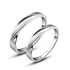 Simple 925 Sterling Silver Couples Rings