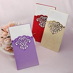 """לא מותאם אישית הזמנות ומעטפות הזמנות לחתונה לדוגמא הזמנה-1 יחידה / סט סגנון קלאסי כרטיס נייר 8 ½""""×4 ½"""" (21.5*11.5ס""""מ)"""