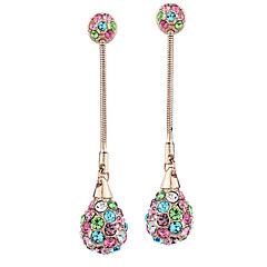 Shining Alloy Multicolor Crystal Earring