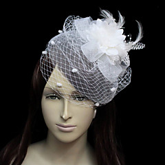 Vakker Flannelette Med Feather / Tulle kvinners Wedding Fascinators