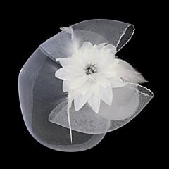 Women's Lace Feather Tulle Cotton Flannelette Headpiece-Wedding Special Occasion Fascinators