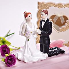 Tortenfiguren & Dekoration Nicht-personalisierte Klassisches Paar / Religiös Harz Hochzeit / Brautparty Weiß / SchwarzGarten Thema /