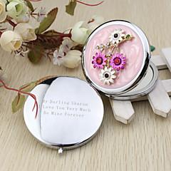Kompakttaschenindividualisiert-Blumen Thema Chrom
