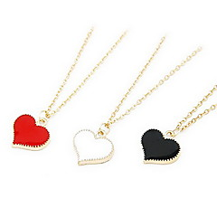 Fashion Sweet Gilt Edged Heart Shape Necklace