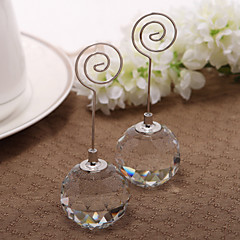 Crystal Iron Place Card Holders Standing Style PVC Bag