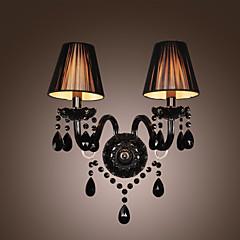 CENTENNIAL - Wandlampe aus Kristall Textil-Lampenschirm mit 2 Glühbirnen