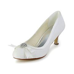 Women's Spring / Summer / Fall Heels Glitter Wedding / Dress Kitten Heel Black / Red / Ivory / White / Champagne