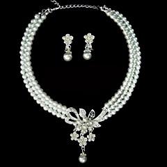Ensemble de bijoux Femme Anniversaire / Mariage / Fiançailles / Cadeau / Sorée / Occasion spéciale Parures AlliageImitation de perle /