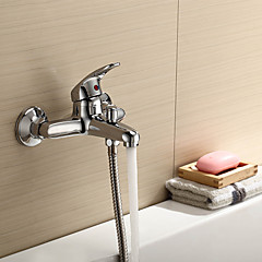 Modern Bad en douche Waterval with  Keramische ventiel Single Handle twee gaten for  Chroom , Douchekraan / Badkraan