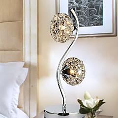 kreativ krystal bordlampe med 2 lys 220-240V
