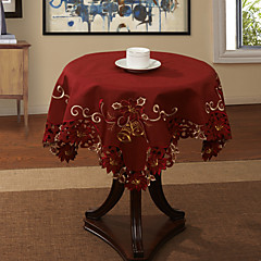 "33 ""X33"" Modern Style Red Floral Table Cloth"